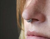 Septum Cuff - Snug Septum Ring - Fitted Septum Cuff - Thick Septum