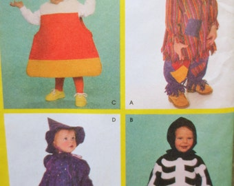 Simplicity 4005 Sewing Pattern, Halloween Costumes, Kid Costumes, Candy Corn, Witch, Scarecrow, Skeleton, Toddler Costume Patterns, Child