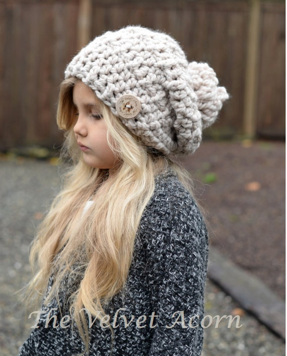 Crochet PATTERN-The Bain Slouchy (Toddler, Child, and Adult sizes)