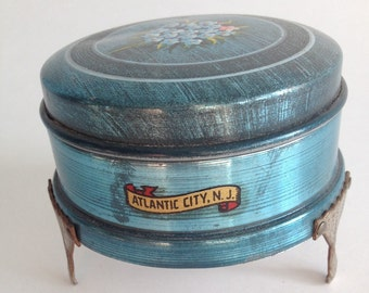 Atlantic City Souvenir Trinket Box from 1940s
