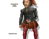 William Shakespeare Paper Puppet Celebrate his birthday with a paper doll