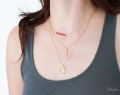 Layered Necklace Set - Set of 3 - Gemstone Bar Necklace - Layering Necklaces - Gold Necklace - Boho Chic Jewelry - Minimal Gemstone Necklace