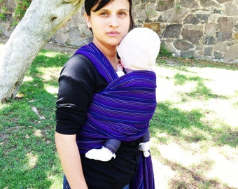 Special price for a limited time Baby Wrap Carrier Mexican Nech Royal blue fine lines Wrap 5,5 yards