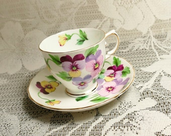 Tuscan Violets Cup and Saucer