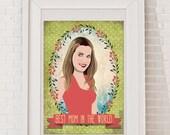 Custom Portrait. Mom. Gift Idea for Mothers Day, Baby shower, Valentines day, Birthday, Wedding, Anniversary, Bridal shower