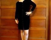 Cocktails Forever! Black Velvet Long Sleeve Dress size 10