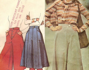 SALE Culottes Sz 10 1979 pattern Easy to sew