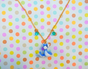 Kawaii Dratini Pokemon Jewelry Necklace