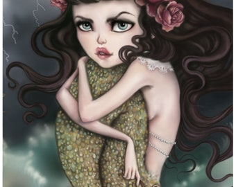 Salty Tears and Shipwrecks - A4 Limited Edition Fine Art Print - Inspired by The Little Mermaid, Sirens, and Dark Fairytales