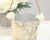 Flower girl basket - boho chic