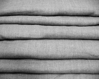 Soft Linen Fabric--Organic Natural Linen Burlap--Pure Flax Eco Friendly Fabric--Garment Weight--DIY Projects