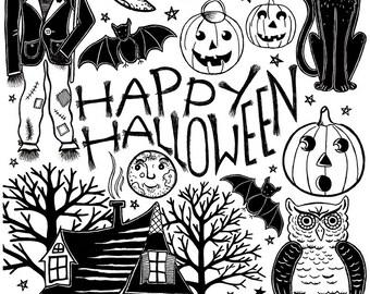 My Vintage Halloween - Illustration by: Taren S. Black