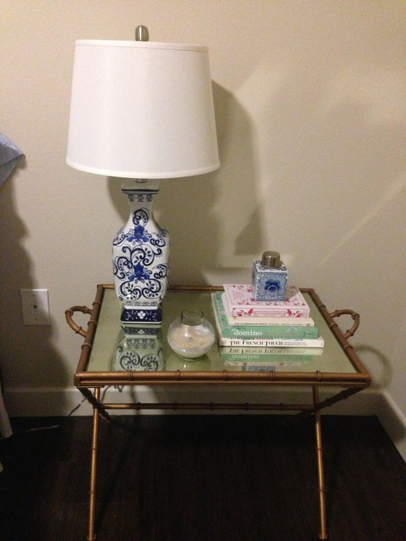 lamp classic blue and white ginger jar with white linen drum shade. Black Bedroom Furniture Sets. Home Design Ideas