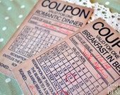 Coupons - Breakfast in Bed / Romantic Dinner
