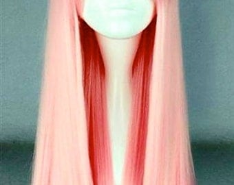 Cherry Blossom // Long Pink Straight Synthetic Wig
