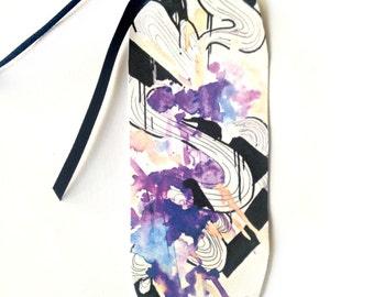 Bookmark - Art Bookmark - Abstract art bookmark - Handmade bookmark - Purple bookmark - Abstract bookmark - Book lover