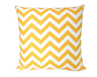 Sunny Yellow Chevron Pillow Cover