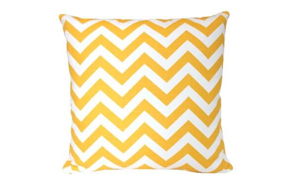Sunny Yellow Chevron Pillow Cover