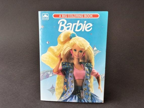 vintage barbie golden a big coloring book 90 39 s acid wash. Black Bedroom Furniture Sets. Home Design Ideas