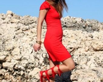 Trojan Warrior Legwarmers, Achilles OneSize Adjustable Red Leg Warmers, Fashion Accessories,