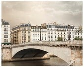 Paris photography, architectural art print, beige grey, large wall art, cityscape photo poster, ecru, living room decor, 16x16, 12x12, 24x30