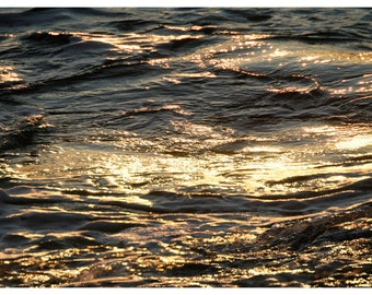 Black gold Photography art, abstract Sea water art print, bathroom wall decor, large wall art, panoramic photo oversized poster, 20x40 24x36