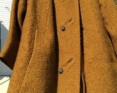 Mustard Yellow Wool Coat by Joseph Stein--AWESOME COAT!