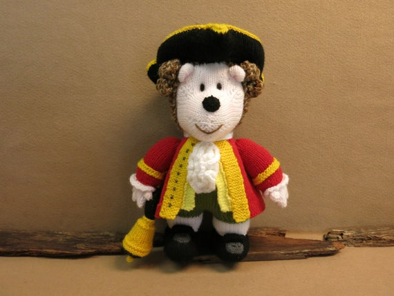 Hedgehog, Knitted Toys, Town Crier, Hand Knitted Animals, Stuffed Toy, Knitted Amigurumi Soft Toys, Nursery Gift, Baby Shower, Australia
