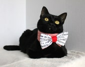 Red Black and White Wedding Bow Tie