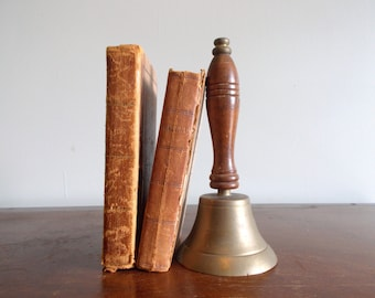Brass Hand Bell with Wood Handle
