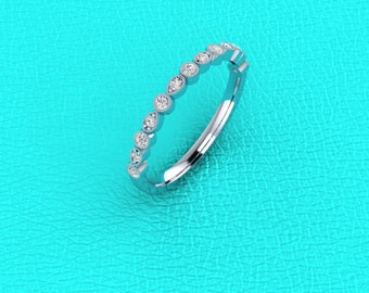 Platinum stackable diamond band