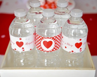 Instant Download Sweet Valentine Printable Water Bottle Labels by Marbella Printables