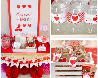 Cereal-ously BREAKFAST/VALENTINE PARTY Printable Package by Marbella Printables