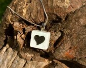 Heart Shape Original Necklace Made in Marble- Original and Unique  One of a Kind Gift. Wife, Girlfriend, Bride, Mother