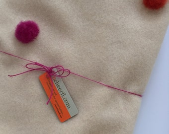 CUSTOM Merino Wool Baby Blanket