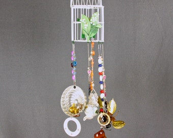 Unique Wind Chime, Upcycled Wall Hang, Wall Light Kitchen, Wind Ornament, Wind Sculpture,  Window Light Catcher, Yard Art Garden