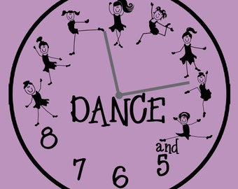 Clock - Dance - and 5, 6, 7, 8 with dancers