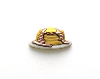 Pancakes - Breakfast - Syrup and Butter - Stack of Pancakes - Lapel Pin