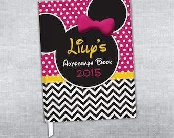 Disney autograph book. Personalized journal.