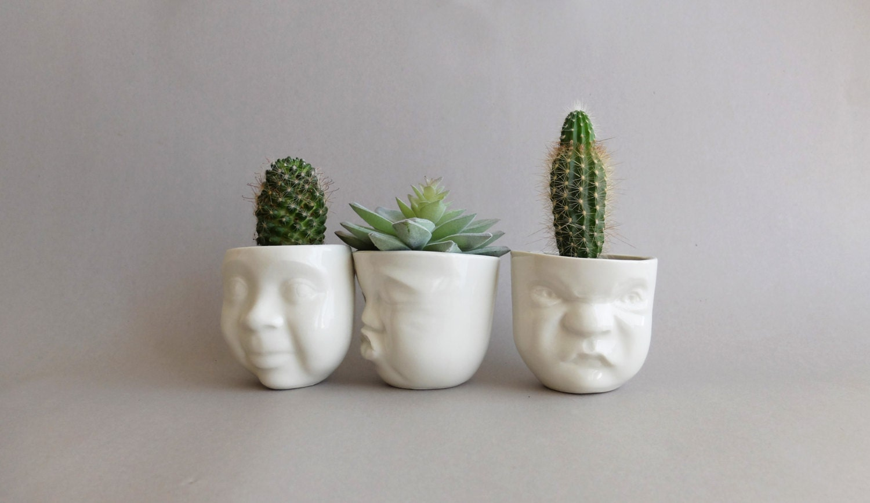 Ceramic Planter Smallsucculent Plantermodern Planterface