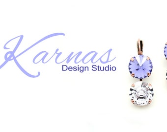 SMOKY MAUVE 12mm Earrings Rivoli & Vision Stone Made With Swarovski Elements *Pick Your Finish *Karnas Design Studio *Free Freight*
