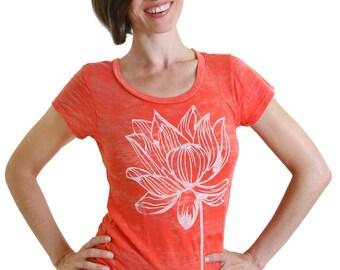 Lotus Flower PERFECT Burnout Yoga Tee