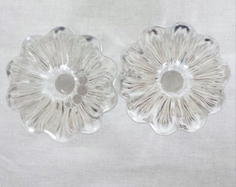 SALE - 2 beautiful orrefors crystal candle stick holders
