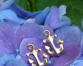 Anchor Earrings ~ Bronze