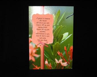 Feminine Friendship Birthday Card (Peach Wildflower)