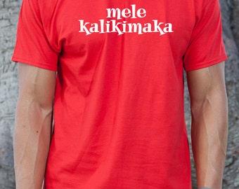 Mele Kalikimaka T-shirt Funny Hawaii Hawaiian Merry Christmas Gift Idea Tee Shirt