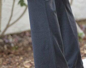 Black Namaste Print Yoga Pants - FLARED PANTS -  Yoga Pants - Yoga Clothes - Women's Yoga Pants - Yoga Pants Pattern - Yoga Pants Black