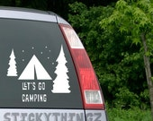 Camping Decal, Camping Sticker, Nature Decal, Outdoor Decal, Camping, Car Decal, Hiking, Tree Decal, Tent Sticker, Hiking Decal, Yeti Decal