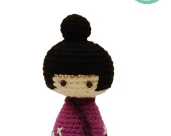 Easy Amigurumi Pattern - Kokeshi Doll, Crochet Pattern, Japanese Doll