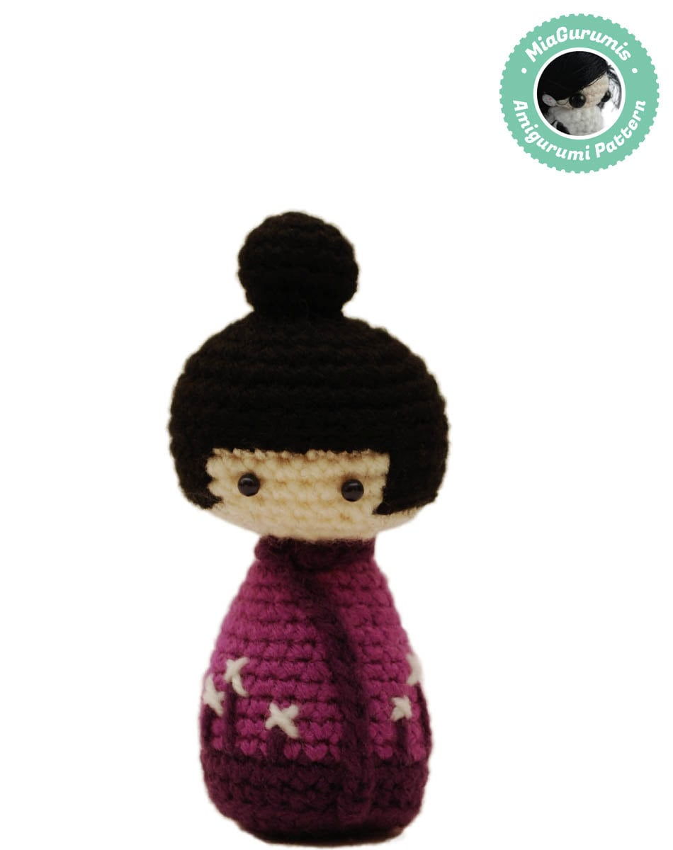 Easy Amigurumi Pattern Kokeshi Doll Crochet Pattern